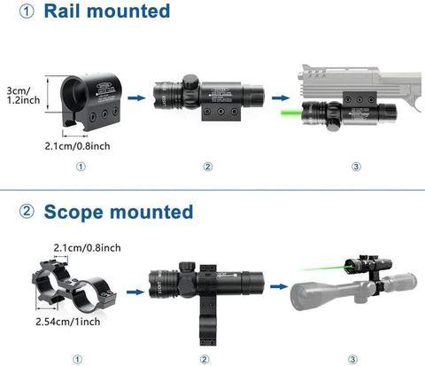 montagem trilho para arma de caca lazer vista