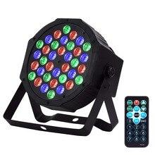 36W 36leds RGB oświetlenie sceniczne led aktywowane dźwiękiem DMX512 Master-Slave lampa par Disco DJ Club Party KTV ślubne oświetlenie do zastosowań muzycznych