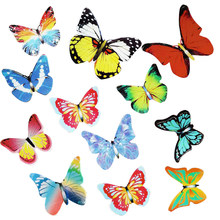 40Pcs Mixed Butterfly Edible Glutinous Wafer Rice Paper Cupcake Flag Cake Toppers Happy Birthday Party Wafer Paper Butterflies