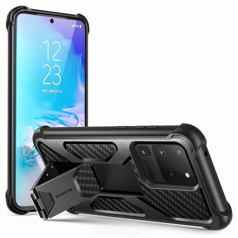 I-BLASON Transformer For Samsung Galaxy S20 Ultra Case / S20 Ultra 5G Case Dual Layer Rugged Bumper Case with Built-in Kickstand