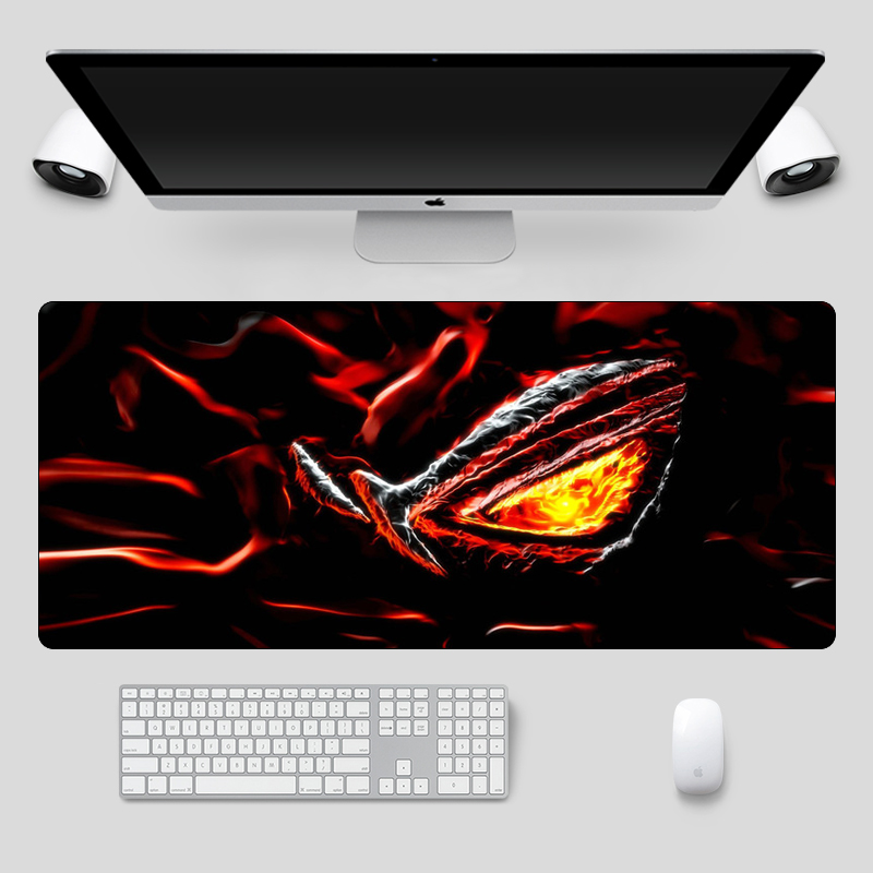 Image 4 - Fashion 90x40cm Large ASUS Gaming Mousepad  Republic Of Gamers Keyboard Pad  Locking Edge Rubber Laptop Notebook Desk MatMouse Pads   - AliExpress