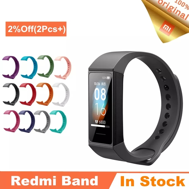 Xiaomi Redmi Band Smart Armband Fitness Herz Rate Sport Monitor Bluetooth 5,0 USB Lade Armband 2020 redmi smart band