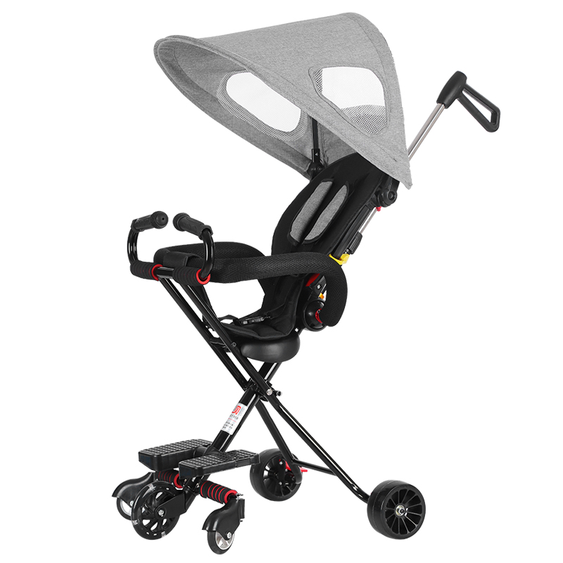 Children's Portable Trolley Folding Baby Trolley Baby Cart 1-3 Years Old Can Sit And Walk Baby Artifacts