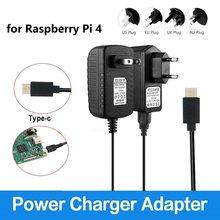5 в 3 А тип-c USB AC/DC настенное зарядное устройство адаптер питания шнур для Raspberry Pi 4 Модель B адаптер питания