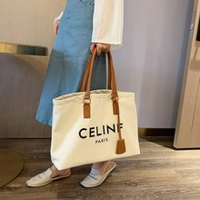 2021 Purse and Handbags Large Capacity Women's Casual Tote Luxury Bags New Insfamous Fashionable Letter Canvas Shoulder Bag