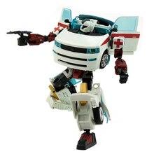 Transformador de ambulancia, rescate pionero, simulación de alteración, coche, Robot de juguete