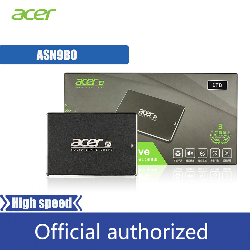 Acer <font><b>SSD</b></font> 250GB 500GB 1TB Internal Solid State Drive <font><b>2.5</b></font> inch <font><b>SATA</b></font> <font><b>III</b></font> HDD Hard Disk HD <font><b>SSD</b></font> Laptop Desktop PC QLC disco duro image