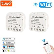 Tuya Smart Wfi Commutateur 16A 90 V 240 V Wifi Smart Switch Module Maison Intelligente Autom Soutien Commutateur Externe Fonctionne Avec Alexa Google Home