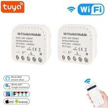 Tuya Smart Wfi Schakelaar 16A 90 V 240 V Wifi Smart Switch Module Smart Home Autom Ondersteuning Externe Schakelaar werken Met Alexa Google Thuis