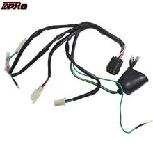 TDPRO Engine Wiring Harness Kit Plug Wire Loom Switch For XR50 CRF50 50cc 90cc 125cc 140c 150cc DIRT BIKE PIT Pro Lifan Engines full dc 90cc 110cc 125cc 140cc 150cc kick electric start engine wiring harness loom pit dirt bike