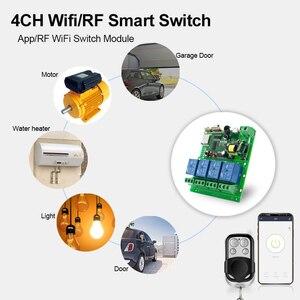 Image 4 - APP eWeLink Smart Remote Control Wifi wireless Switch Module 4CH 12V 24V 220V 75V 250V RF Receive 433MHz Remote Transmitter