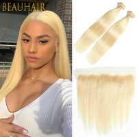 613 menschliches Haar Bundles mit spitze Frontal 13*4 Ohr zu Ohr Spitze Frontal Spitze Schließung Brasilianische Menschliches Haar honig Blonde Remy Haar