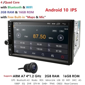 Image 5 - 2019 Android10.0 2DIN Universal Car NO DVD player  Auto Radio Quad Core 7Inch  GPS Stereo Audio Head unit Support DAB DVR OBD BT