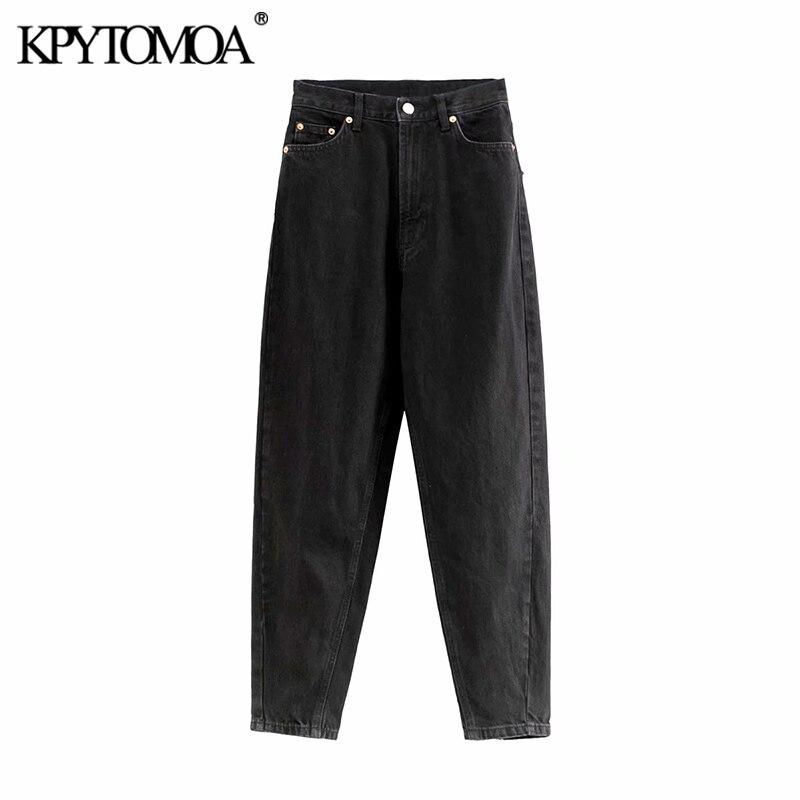 Vintage Stylish High Waist Denim Harem Pants Women Jeans 2019 Fashion Zipper Fly Pockets Female Ankle Trousers Pantalones Mujer