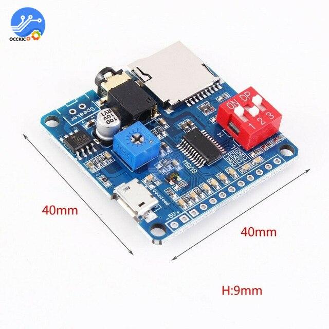 MP3プレーヤーモジュールミニクリップ5ワットMP3プレーヤー音楽スピーカーオーディオサウンドプレイヤーmp3ボードシリアルポート制御ioモジュールをトリガ