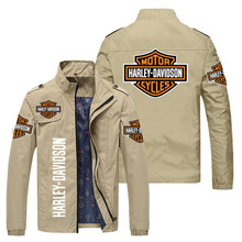 New Jacket men spring Brand LOGO Men's Jacket With Zipper Spring autumn Fashion slim Coat Men's Casual Baseball Locomotive Coat