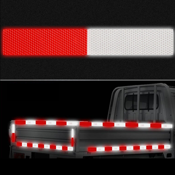 width 50mm Reflective Tape Safety Caution Warning Reflective Adhesive Tape Sticker For Truck Motorcycle Bicycle Car Styling 1cm 8m lattice reflective tape sticker car styling vehicle truck motorcycle bicycle fence safety warning strip diy decal