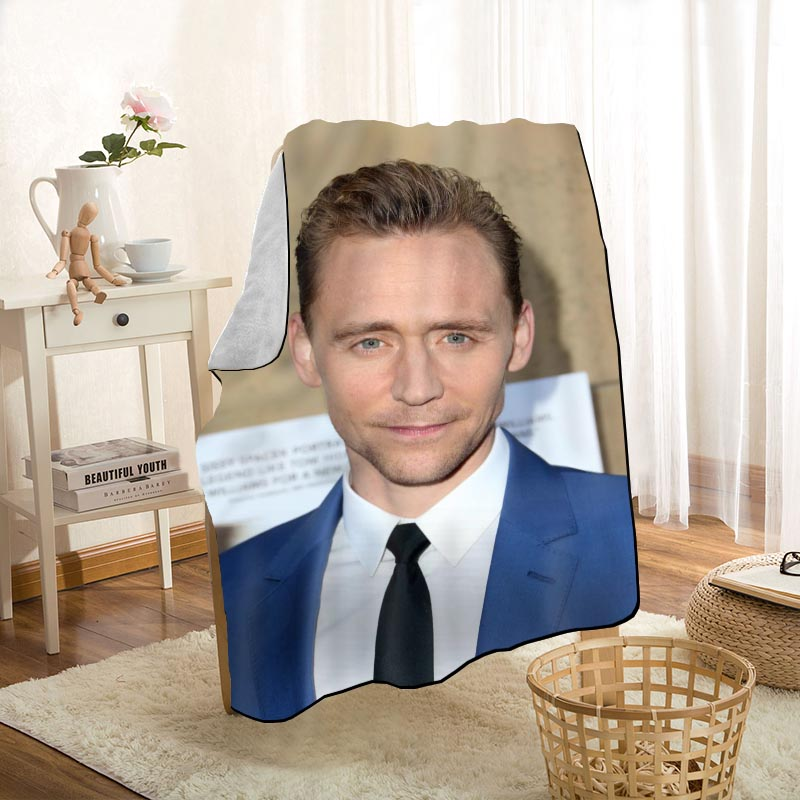 New Arrival Tom Hiddleston Blankets Printing Soft Blanket Throw On Home/Sofa/Bedding Portable Adult Travel Cover Blanket