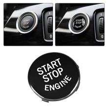 Araba iç Start Stop motor düğmesi anahtarı ayar kapağı siyah için BMW E90 E91 E60 E84 E83 E71 E72 oto aksesuarları