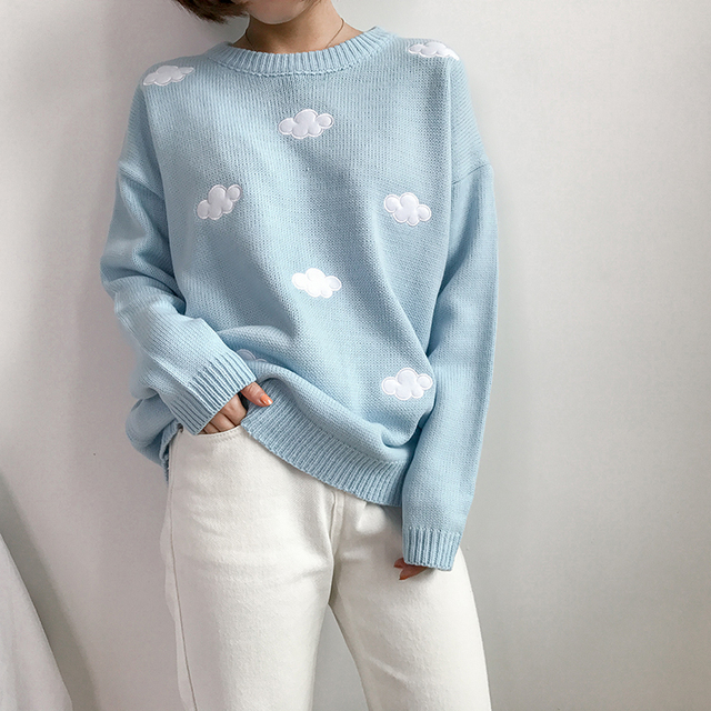 Ailegogo New 2020 Fall Winter Women Sweaters Knitted Stylish Pullovers Minimalist Loose Casual Wild Jumpers SW201 2