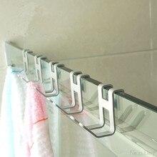 Crochet de porte en aluminium, 4 pièces, crochet de porte en verre, trou libre pour porte-serviettes, organisateur de clés My25 20 livraison directe
