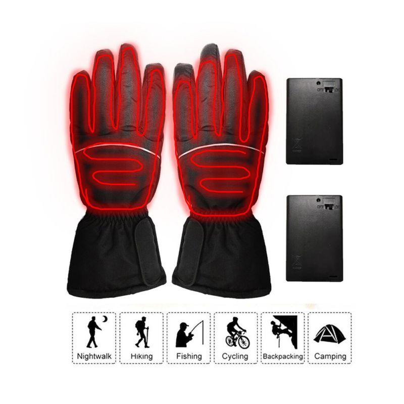 Unisex Electric Thermal Gloves Rechargeable Battery Winter Warmer Heated Gloves Cycling  Ski Glove