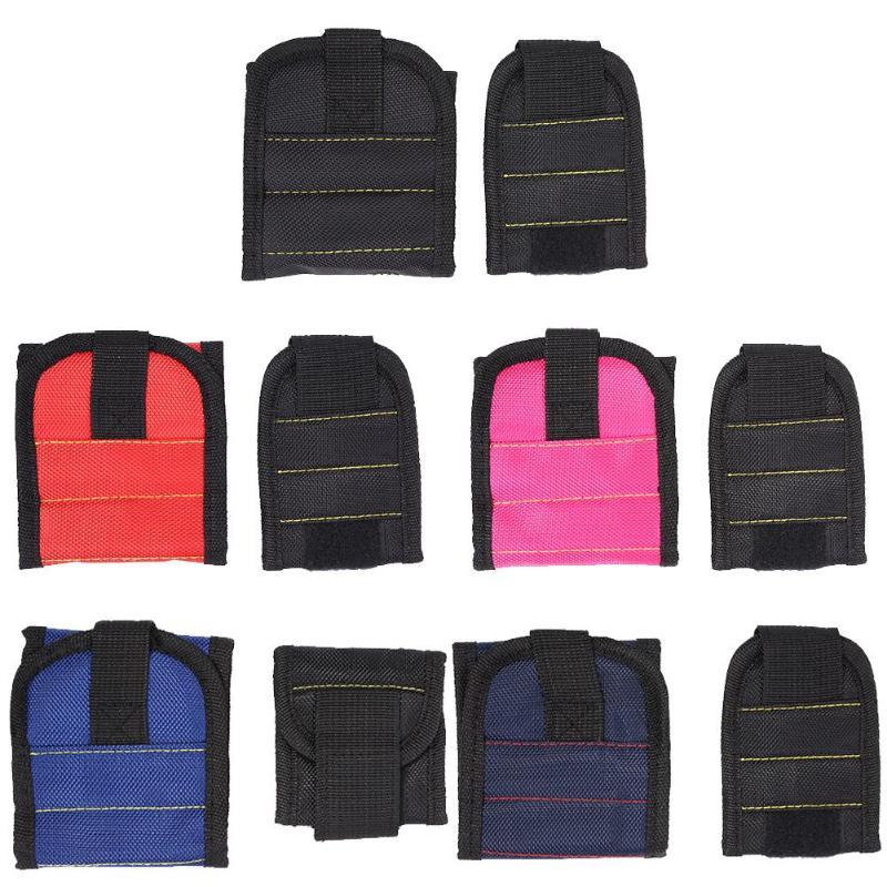 2pcs/set Waterproof Wristband Tool Bag Magnetic 600D Oxford Cloth Hardware Pouch Organizer  For Holding Screws, Nails