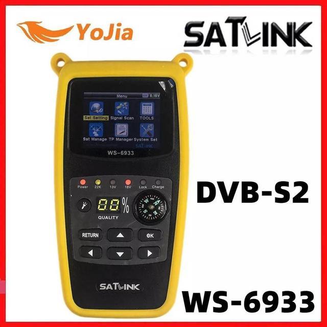 원래 Satlink WS 6933 위성 파인더 DVB S2 FTA CKU 밴드 Satlink 디지털 위성 파인더 미터 WS 6933 무료 배송