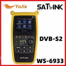 الأصلي Satlink WS 6933 الأقمار الصناعية مكتشف DVB S2 FTA CKU الفرقة Satlink الرقمية الأقمار الصناعية مكتشف متر WS 6933 شحن مجاني