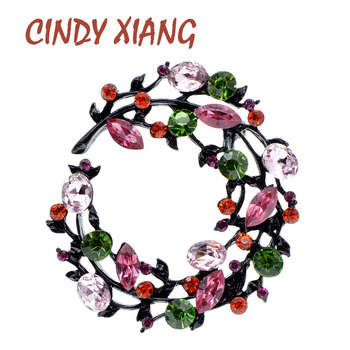 CINDY XIANG Rhinestone Flower Brooches For Women Spring Design Bag Coat Pin 2 Colors Available Wedding Pin High Quality New 2020 cindy xiang 4 colors avaibale crystal flower brooches for women wedding pin pendant brooch spring new arrival high quality gift