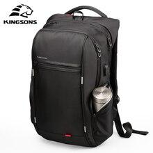Kingsons 13 Inch External USB Charging Men's Backpack for Computer Bag