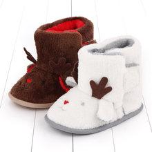 Ботинки для маленьких девочек зимняя Рождественская обувь плюшевые