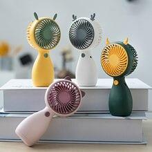 Mini ventilador de mano con cuerda portátil para estudiantes, Mini ventilador de escritorio con carga Usb, Faro para viaje, oficina, Aire libre, novedad