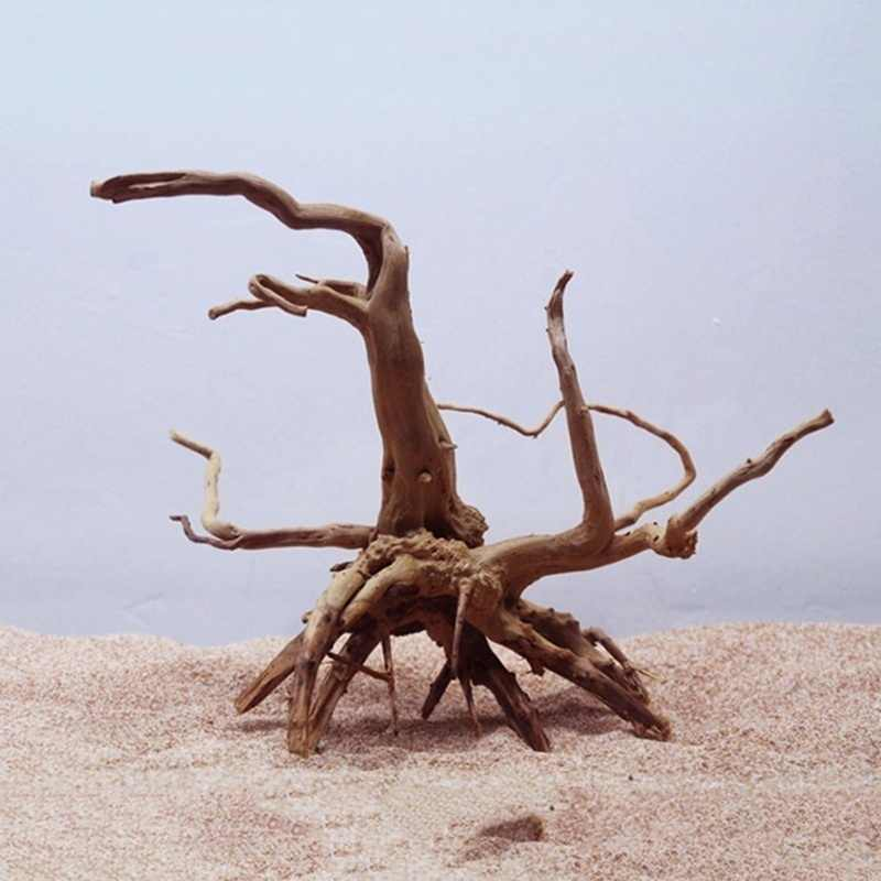 Natural Tree Trunk Driftwood Aquarium Fish Tank Reptile Cylinder Making Roots Plant Wood Decoration Ornament