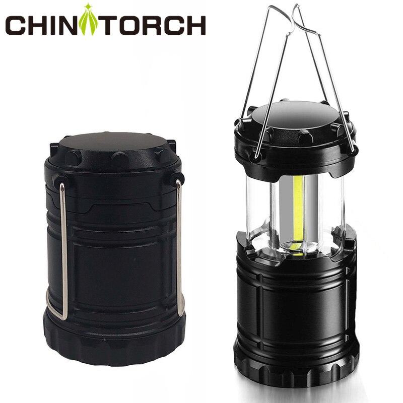 3*COB LED Camping Lamp Mini Portable AAA Battery Hanging Tent Lantern Outdoor Waterproof Handle Light Led Camp Flashlight