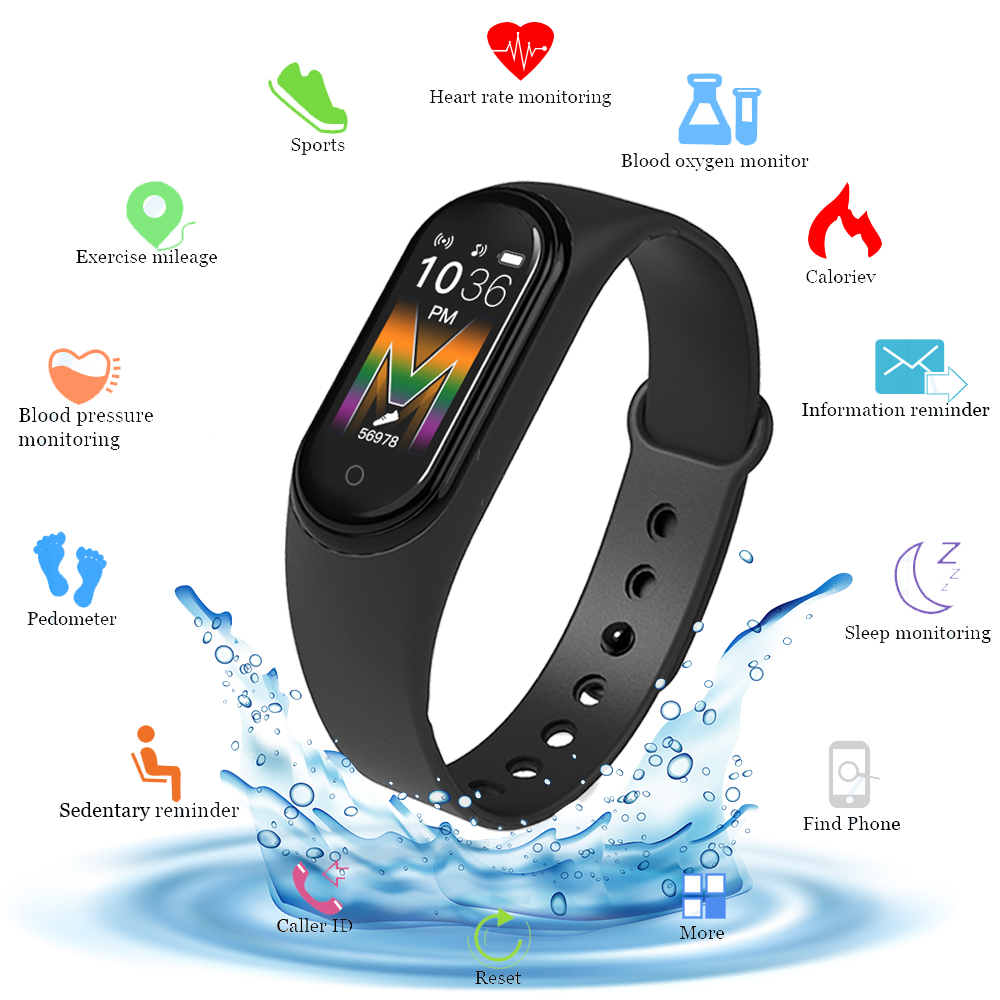 M5 Smart Watch FitnessTracker Call Music Play Smartband Smart Bracelet Blood Pressure Heart Rate Monitor Smart Band Wristband