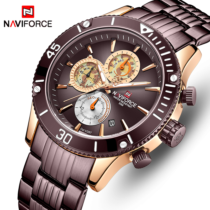 Luxury Brand NAVIFORCE Sport Men's Quartz Watch Waterproof Man Watches Analog Business Calendar Men Clock Relogio Masculino
