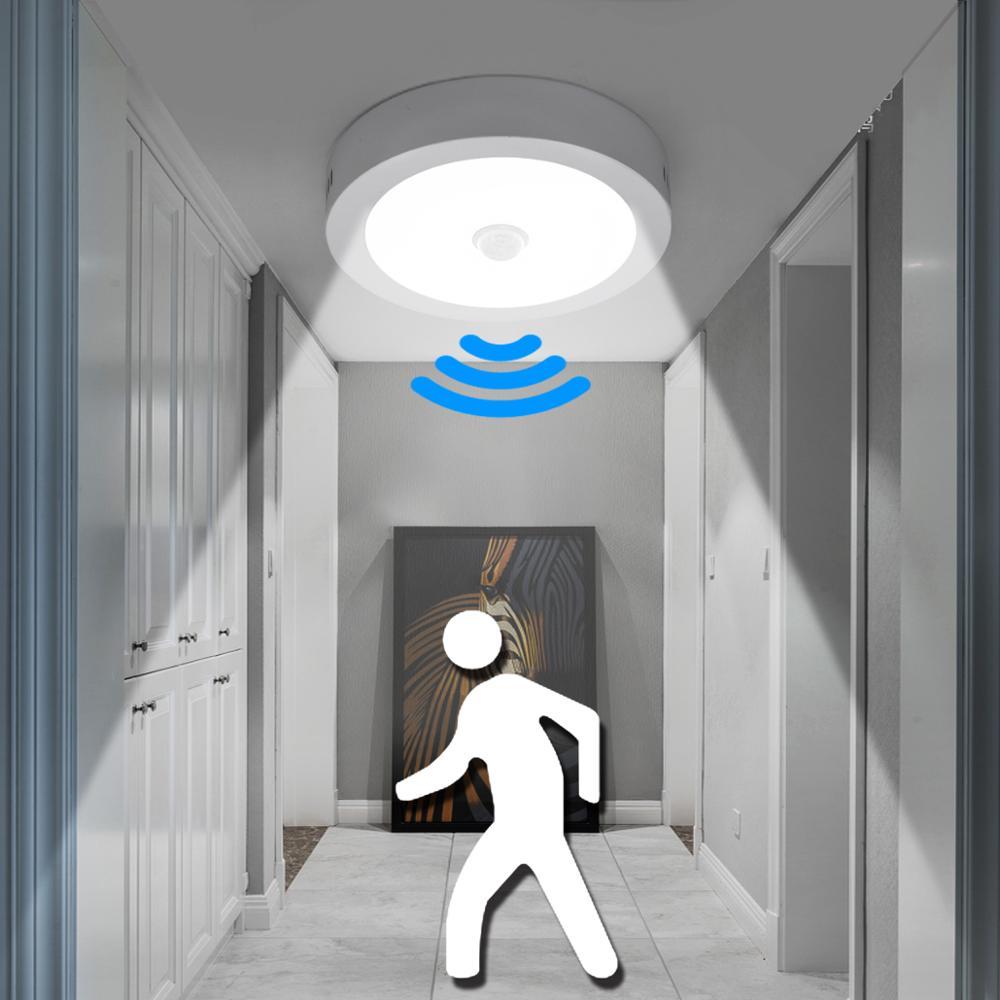 PIR Notfall Signal Lichter Motion Sensor Sicherheit Smart Runde Energie Saving Led Wand Lampe WC Indoor Wc Zimmer Korridor Beleuchtung