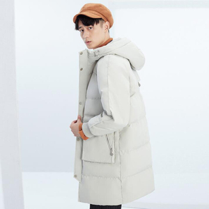 Image 2 - High quality Men Down Jacket Winter Long Hooded Parka overcoat Male Fashion 90% White Duck Down Coat Loose Thick warm Clothing
