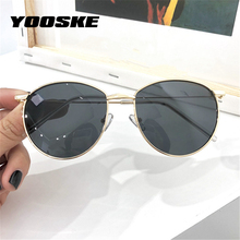 YOOSKE Round Sunglasses Women Men Vintage Brand Designer Met
