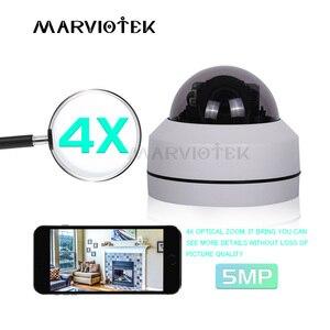 Image 1 - 5MP PTZ caméra IP extérieure Mini vitesse dôme caméra HD Onvif 4X Zoom P2P CCTV caméras 1080P Vision nocturne IP caméra POE étanche