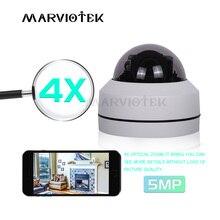 Cámara IP PTZ de 5MP para exteriores Mini cámara domo de velocidad HD Onvif 4X Zoom P2P CCTV, cámara IP de visión nocturna 1080P, POE impermeable