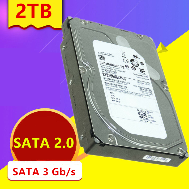 """New HDD For Seagate/Dell Brand 2TB 3.5"""" SATA 3 Gb/s 64MB 7200RPM For Internal HDD For Enterprise Class HDD For ST32000644NS 2"""