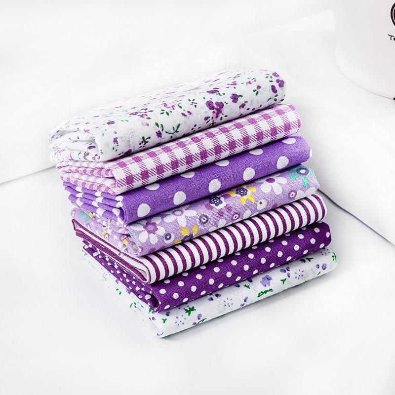 7 Pieces Of Cotton Handmade DIY Patchwork Group Cotton Plain Weave Cotton Cloth
