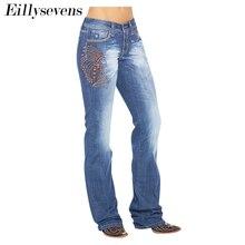 Rock Jeans kobieta wysoka talia pełna długość Plus rozmiar elastyczna mama ulica Jean kobiece spodnie dżinsowe upuść sklep XS S M L XL XXL 3XL 4XL