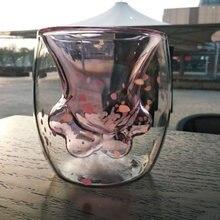 Термостойкая стеклянная чашка с двумя стенками кошачьи когти