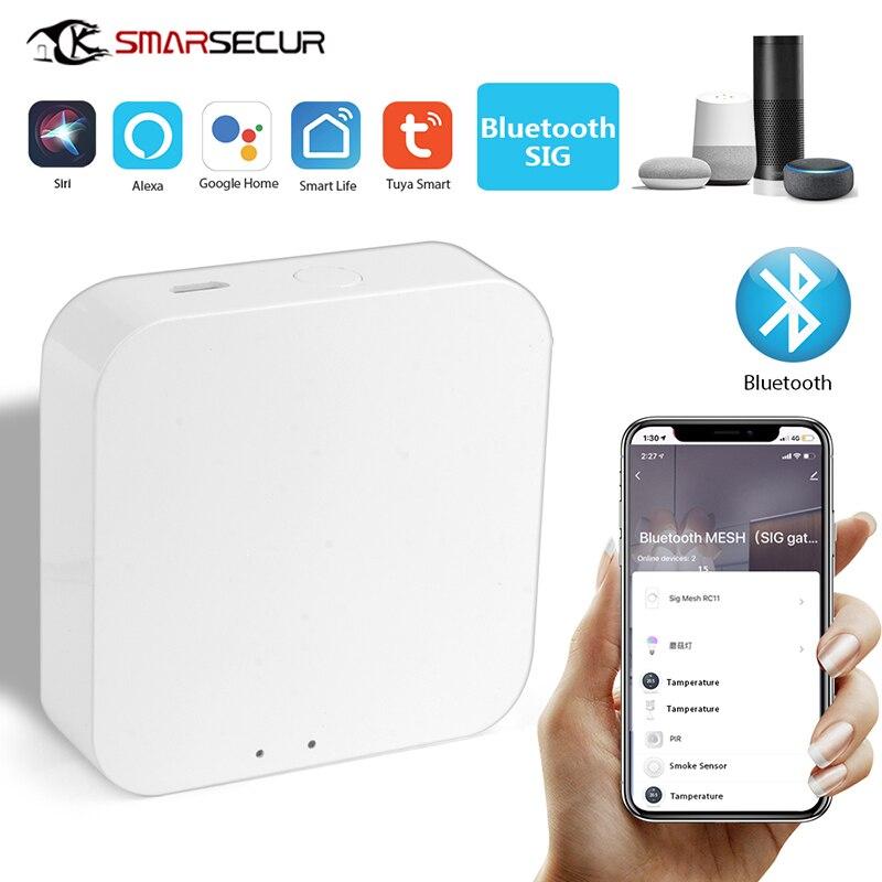 Tuya bluetooth 5.0 wifi malha gateway hub vida inteligente app controle remoto sem fio trabalhar com para alexa google casa inteligente