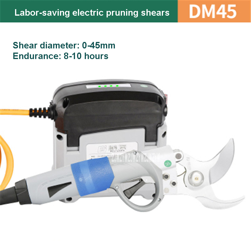 DM45 Electric Pruning Shears 36V4.8AH Lithium Battery Rechargeable Branch Shears Electric Branches Scissors 100-240V 25000rpm