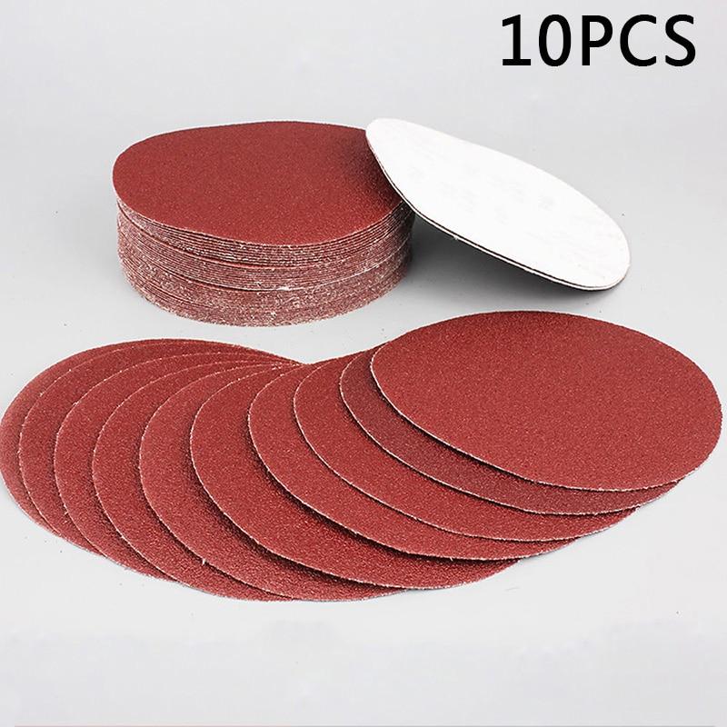 10Pcs/Set 100mm 320 Grit Sanding Papers Wet Dry Carving Orbit Hook & Loop Sander Grinding Wheels Abrasive Tools Sandpapers