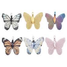 LOULEUR 7 Farben Charme Mode Schmetterling Halsketten Anhänger für Frauen Mädchen Gold Kupfer Anhänger Für Schmuck Machen Geschenk